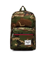 Pop Quiz in Woodland Camo & Stripe Zipper
