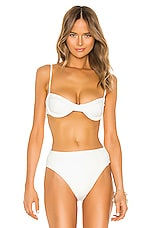 HAIGHT. Crepe Vintage Bikini Top in Off White