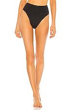 HAIGHT. High Leg Bikini Bottom in Black