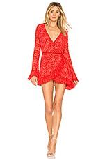 HAH Wrap Star Dress in Blood Orange Combo