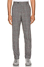 Helmut Lang Prince of Wales Pant in Charcoal