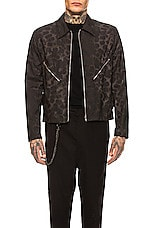 Helmut Lang Unlined 3M Classic Zip Jacket in Chocolate