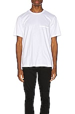Helmut Lang Laws Tee in Chalk White