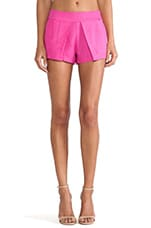 Pleated Short in Hot Pink