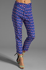 Peg Leg Trouser in Flamingo Print