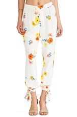 Open-Tie Trouser in Poppy Floral