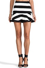 Peplum Skirt in Black White