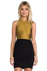 harlyn Cut Out Crop Top in Gold