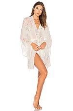 homebodii Lydia Kimono Robe in White