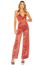 House of Harlow 1960 x REVOLVE Alondra Jumpsuit in Red Geo Tile