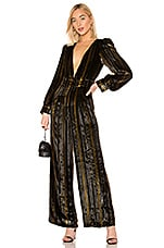 House of Harlow 1960 x REVOLVE Charo Silk Jumpsuit in Noir