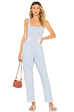 House of Harlow 1960 x REVOLVE Devi Jumpsuit in Dusty Blue Stripe