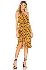 House of Harlow 1960 x REVOLVE Baye Midi Dress in Saffron Polka Dot