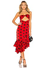 House of Harlow 1960 x REVOLVE Rio Dress in Red & Black Dot