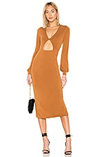 House of Harlow 1960 x REVOLVE Ernesto Dress in Spice Brown