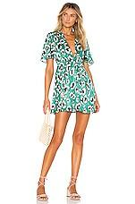 House of Harlow 1960 x REVOLVE Dawn Dress in Green Leopard