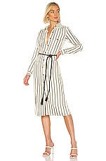 House of Harlow 1960 X REVOLVE Devina Midi Dress in Ivory & Black Stripe