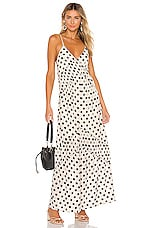 House of Harlow 1960 X REVOLVE Russo Maxi in Ivory & Black Dot