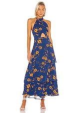 House of Harlow 1960 X REVOLVE Micaela Maxi Dress in Blue Daisy Floral