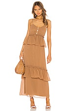 House of Harlow 1960 X REVOLVE Ivana Dress in Tawny Brown