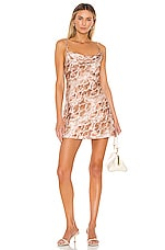 House of Harlow 1960 X REVOLVE Ira Mini Dress in Cinnamon Brown