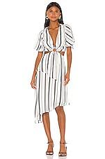 House of Harlow 1960 X REVOLVE Sevita Midi Dress in Black & White Stripe