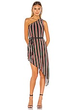 House of Harlow 1960 X REVOLVE Arlyn Midi Dress in Noir Multi Stripe