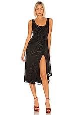 House of Harlow 1960 X REVOLVE Mirai Midi Dress in Noir