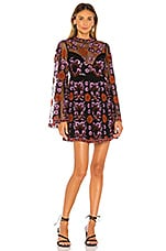 House of Harlow 1960 x REVOLVE Lola Mini Dress in Noir Multi