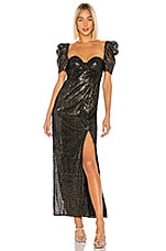 House of Harlow 1960 x REVOLVE Floriana Maxi Dress in Noir & Gold