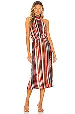 House of Harlow 1960 x REVOLVE Rafaela Midi Dress in Red Multi Stripe