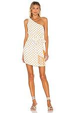House of Harlow 1960 x REVOLVE Dahlia Dress in White & Copper Dot
