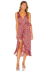 House of Harlow 1960 x REVOLVE Mitra Midi Dress in Red Poppy Floral