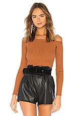 House of Harlow 1960 x REVOLVE Dove Rib Sweater in Rust