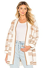House of Harlow 1960 x REVOLVE Kato Cardigan in Beige Plaid