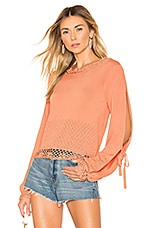 House of Harlow 1960 X REVOLVE Citrus Sweater in Orange Rust