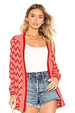 House of Harlow 1960 X REVOLVE Julep Cardigan in Pink & Red