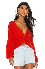 House of Harlow 1960 X REVOLVE Marquis Sweater in Brick Red