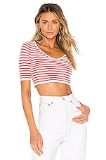 House of Harlow 1960 X REVOLVE Capri Sweater in Red & White Stripe