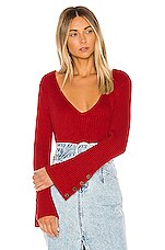 House of Harlow 1960 X REVOLVE Siona Sweater in Brick