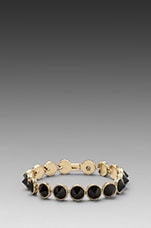Black is the New Tennis Bracelet in Gold/Black