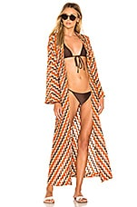 House of Harlow 1960 X REVOLVE Finny Robe in Rusty Chevron