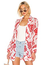 House of Harlow 1960 x REVOLVE Yuliana Bed Jacket in Pink Reims Floral