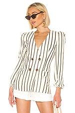 House of Harlow 1960 X REVOLVE Milan Jacket in Ivory & Black Stripe