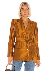 House of Harlow 1960 X REVOLVE Adra Jacket in Gold