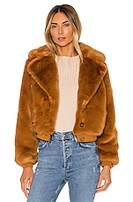 House of Harlow 1960 X REVOLVE Kalida Faux Fur Jacket in Toffee