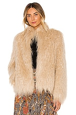 House of Harlow 1960 X REVOLVE Solaire Faux Fur Jacket in Natural