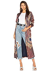 House of Harlow 1960 x REVOLVE Edwin Robe in Patchwork Pajama Print