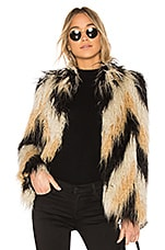 House of Harlow 1960 x REVOLVE Dee Faux Fur Coat in Chevron