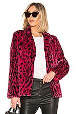 House of Harlow 1960 x REVOLVE Virginia Faux Fur Coat in Fuchsia